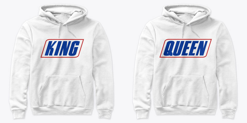 Chocolate Lover King and Queen Couple Hoodies