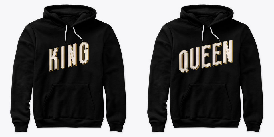 Urban King and Queen Couple Hoodies