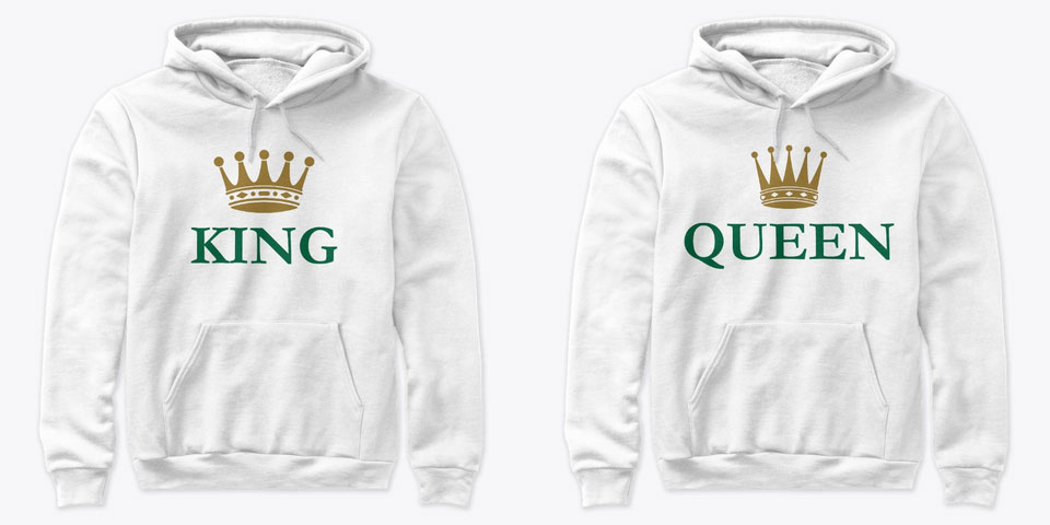 Watch Lover King and Queen Couple Hoodies